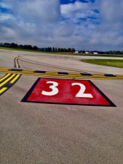 Taxiway Painted Numbers Muncie International Airport